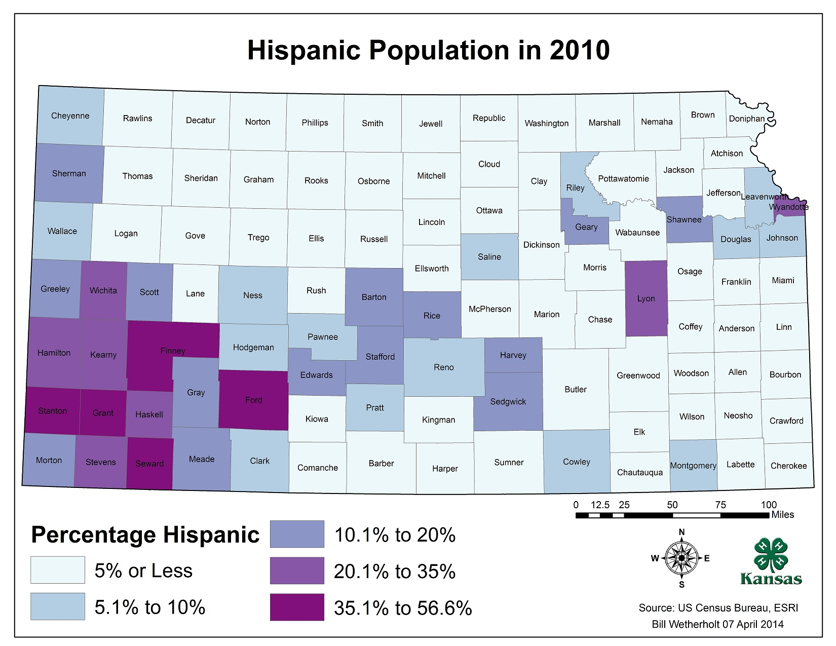 Kansas Population Hispanic